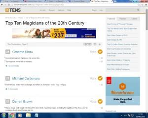 Top 100 magicians